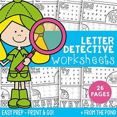 letter detective worksheets free 23066 letter detective printable file from the pond