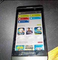 pictures suggest blackberry 10 2 1 could feature play store talkandroid com