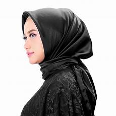Kerudung Segi Empat Hitam Katalog Busana Muslim