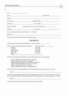client consultation form printable pdf download
