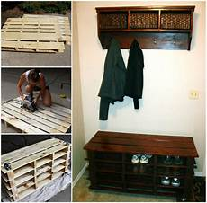 Schuhbank Selber Bauen - awesome shoe storage bench made from pallets