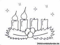 malvorlagen mit adventskranz 24 adventskalender