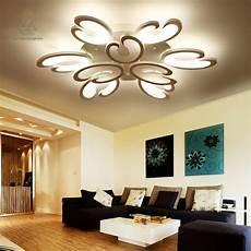 white fashion flower modern led ceiling light living room