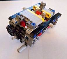 lego technic 5 r speed transmission gearbox car truck nxt