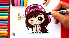 Aprende A Dibujar Una Chica Kawaii Con Gorra How To Draw