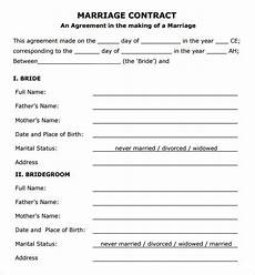free 14 sle marriage contract template in pdf word