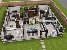 sims freeplay house plans modern design inspired sims freeplay house idea game