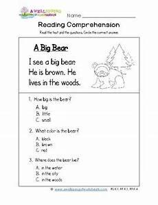 reading worksheets for kindergarten 20386 kindergarten reading comprehension worksheets by a wellspring of worksheets