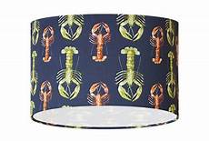 lobster fabric lshade 20 30 40 drum l shade nautical seaside coastal home decor gift