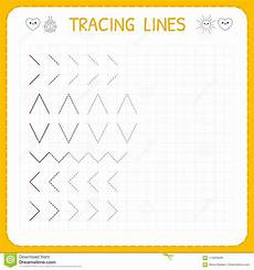worksheets basic 18788 tracing lines worksheet for working pages for children preschool or kindergarten
