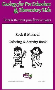 rock mineral coloring activity book minerales rocas