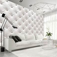 papier peint imitation cuir capitonné white elegance habillage mur papier peint