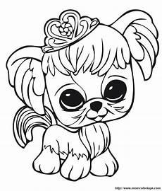 ausmalbilder littlest pet shop bild kleiner hund mit krone