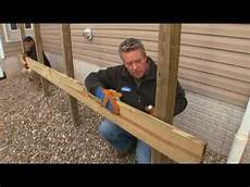 How To Build A Deck Part 3 Building And Setting Deck