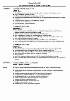 resume sle for acountant position sales tax accountant resume sles velvet