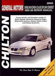 free auto repair manuals 1998 oldsmobile achieva electronic toll collection skylark somerset regal achieva calais grand am repair manual