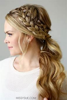 double braided ponytail sue bloglovin