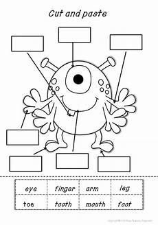 my body parts math and literacy worksheets kindergarten