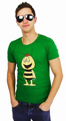logoshirt biene maja willi retro comic t shirt green bestellen