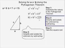 steps to solve pythagorean theorem