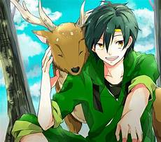 Green Haired Anime Character