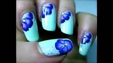 tutorial nail fiori fiore violalilla nail tutorial