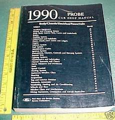 how to download repair manuals 1990 ford probe head up display 1990 ford probe helm service manual ebay
