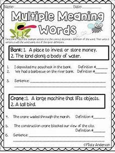 multiple meaning words worksheet multiple meaning words