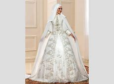 Appliques Beaded Balll Gown Muslim Wedding Dress with
