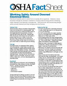 osha fact sheet working safely around downed electrical