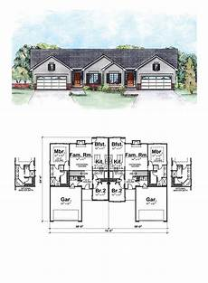multi family house plans duplex traditional style multi family plan 66555 with 4 bed 4