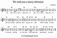we wish you a merry englisch text noten