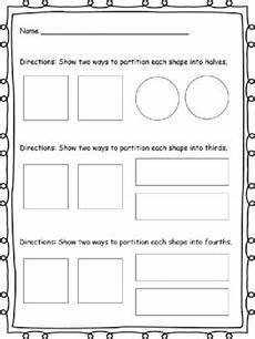 subtraction worksheets partitioning 10224 partitioning shapes and fractions by the whirled p s tpt