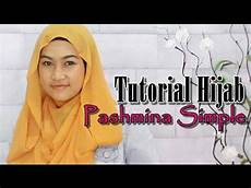 Tutorial Pashmina Simple Tanpa Jarum