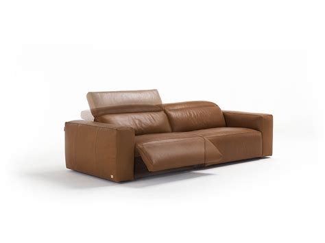 Beverly Sofa In 3-seater Xl Leather With 2 Electric Relax