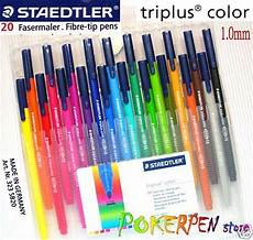 staedtler 20 colours 1 0mm triplus fineliner set marker ebay