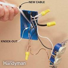 add an electrical outlet the family handyman