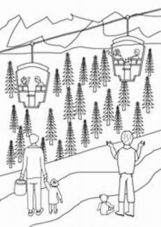 Ausmalbilder Urlaub Berge Ausmalbilder Ferien In Den Bergen Basteln Gestalten