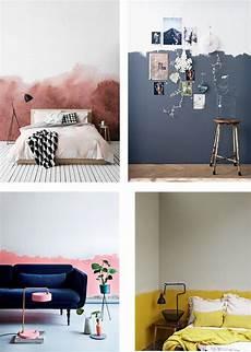 wand farbig streichen ideen color idea half painted walls interior notes