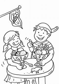 Malvorlagen Kinder Essen Kostenlose Malvorlage Sommer Kinder In Der Eisdiele