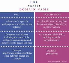 difference between url and domain name pediaa com