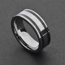 15 ideas of black and silver mens wedding rings