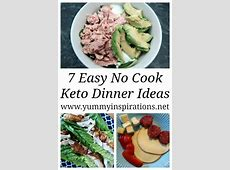 7 No Cook Low Carb Meals   Ideas and Recipes for Easy Keto