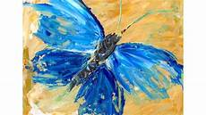 beginner acrylic tutorial abstract butterfly painting youtube