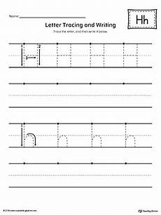 tracing worksheets letter h 24433 letter h tracing and writing printable worksheet myteachingstation