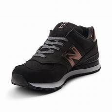 womens new balance 574 athletic shoe black 401550