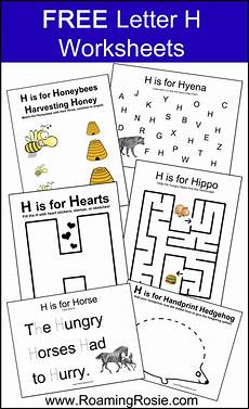 letter h free alphabet worksheets for kids roaming rosie