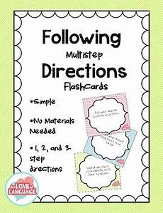 multi step directions worksheets 11737 following multistep directions flashcards by for of language
