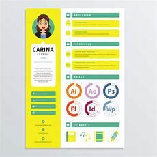 graphic designer resume template download free vectors