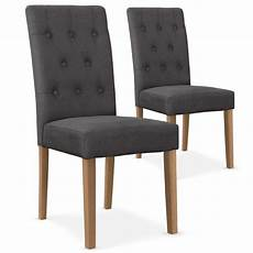 chaise en tissu gris chaises scandinave cybele tissu gris lot de 2 pas cher